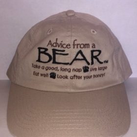 Advice from a Bear Baseball Hat